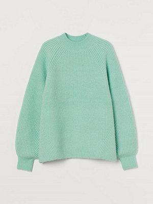 Tröjor - H&M Ribbstickad tröja grön