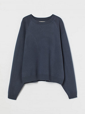 Tröjor - H&M Finstickad tröja i ull blå