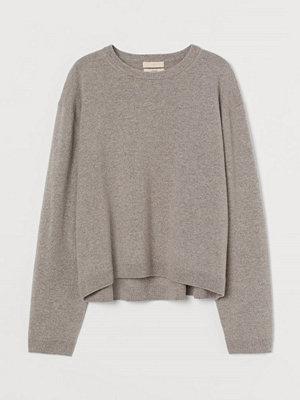 Tröjor - H&M Finstickad tröja i kashmir beige