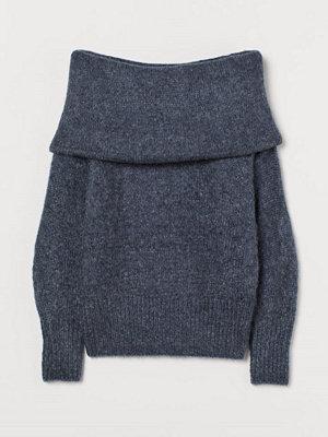 H&M Off shoulder-tröja blå