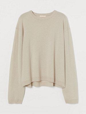 Tröjor - H&M Finstickad tröja i kashmir vit