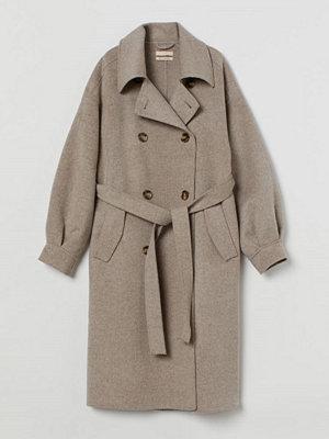 H&M Oversized kappa i ull beige