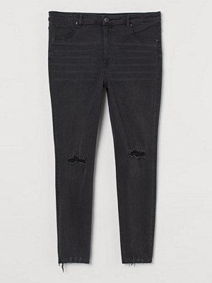 H&M H & M+ Curvy High Ankle Jeggings svart