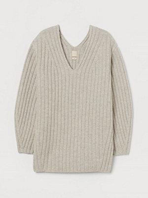 Tröjor - H&M Ribbstickad ulltröja beige