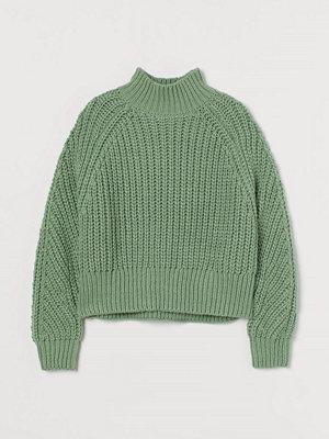 Tröjor - H&M Stickad tröja grön