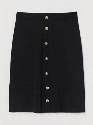 H&M Finstickad kjol svart