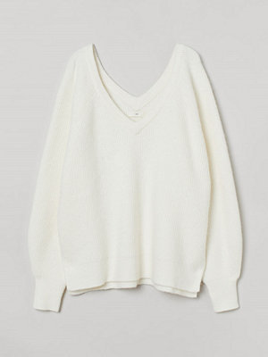 Tröjor - H&M Ribbstickad tröja vit