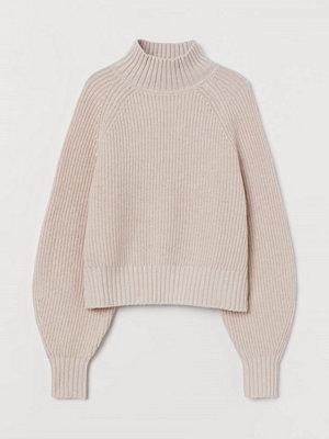 Tröjor - H&M Ribbstickad tröja i ullmix rosa