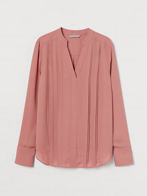 H&M Blus med veck rosa