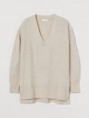 Tröjor - H&M Stickad tröja beige
