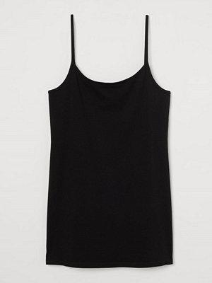 H&M Linne i bomullstrikå svart