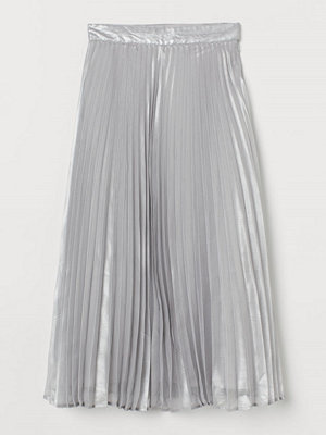 H&M Plisserad kjol silver