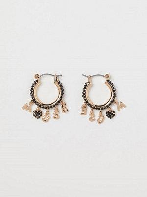 H&M Runda strassörhängen guld
