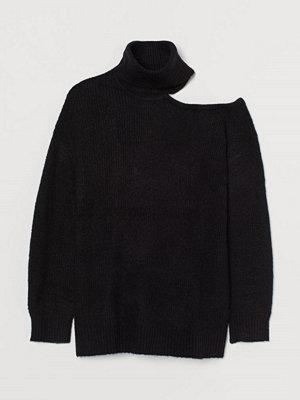 H&M H & M+ One shoulder-polotröja svart