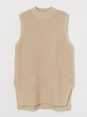 H&M Ribbstickad slipover beige
