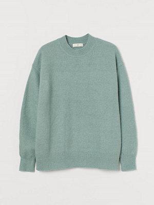 H&M Stickad tröja grön