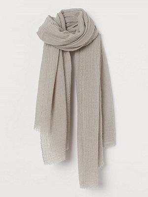 H&M Vävd scarf i ullmix grå