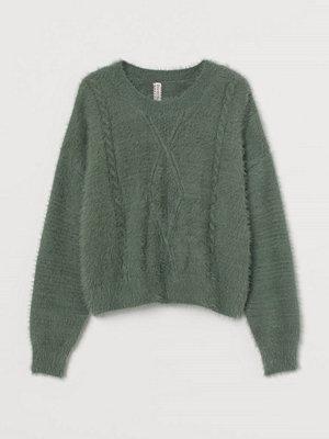 Tröjor - H&M Kabelstickad tröja grön