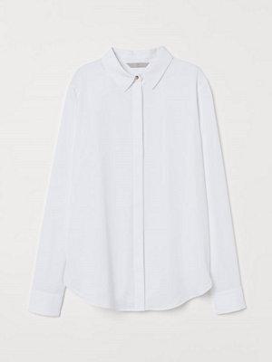 H&M Långärmad blus vit