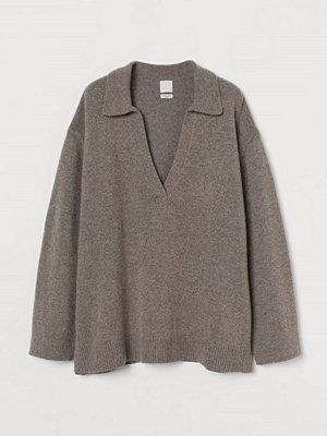 Tröjor - H&M Finstickad tröja i merinomix beige