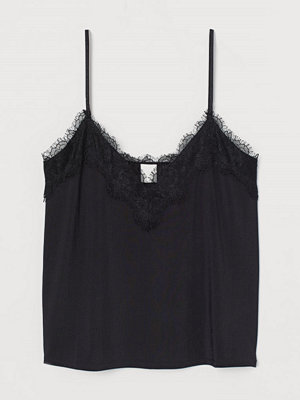 H&M Linne med spets svart