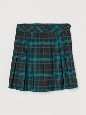 H&M Veckad kjol grön