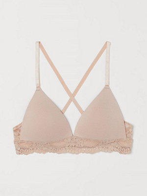 H&M Bygellös push up-bh i trikå orange
