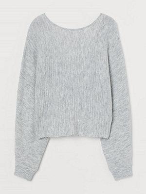 H&M Tröja med vridning grå