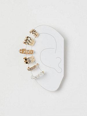 H&M örhängen 6-pack earcuffs guld