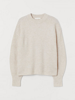 H&M Ribbstickad tröja beige