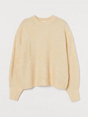 H&M Ribbstickad tröja gul