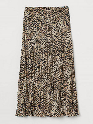 H&M Krinklad kjol beige