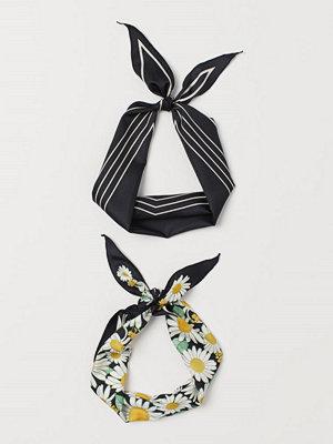 Halsdukar & scarves - H&M 2-pack scarf/hårband svart