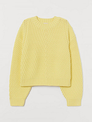 H&M Strukturstickad tröja gul
