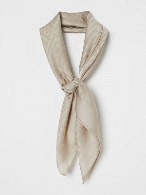 H&M Jaqcuardvävd satinscarf brun