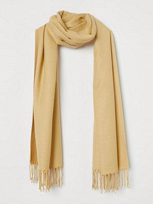 H&M Vävd scarf gul