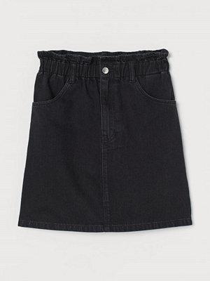 H&M Jeanskjol svart