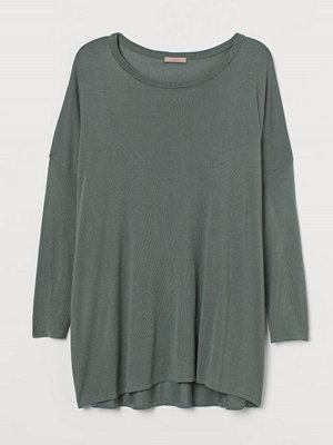 H&M H & M+ Finstickad tröja grön