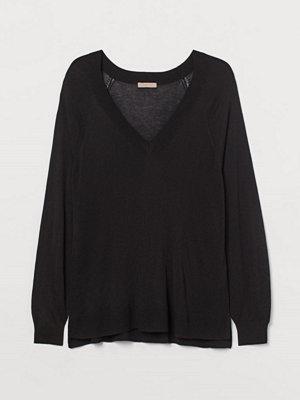 H&M H & M+ V-ringad tröja svart