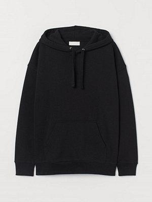 H&M Huvtröja i bomull svart