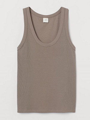 H&M Tanktop i modalmix brun