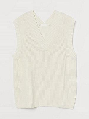 H&M Vid slipover vit