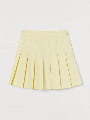 H&M Veckad kjol gul