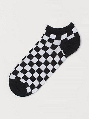 H&M Mönstrade sneakersstrumpor svart
