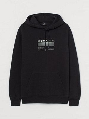 H&M Huvtröja med texttryck svart
