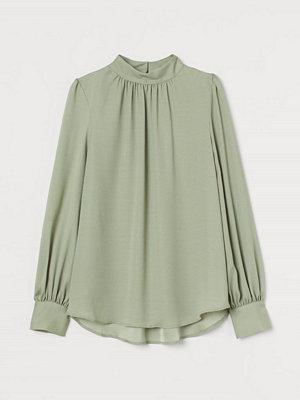 H&M Vid blus grön