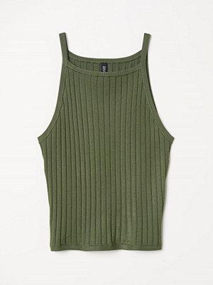 H&M Ribbstickat linne grön
