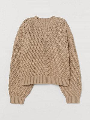 H&M Strukturstickad tröja beige