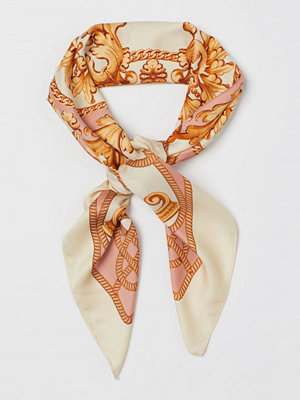 H&M Mönstrad satinscarf orange