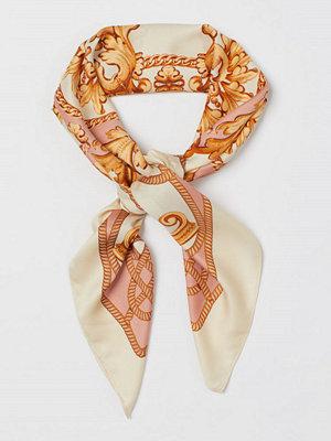 Halsdukar & scarves - H&M Mönstrad satinscarf orange